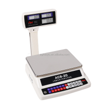 Electronic Weighing Fruit Digital Standing Scale With Both Side Display