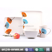 Hot china products wholesale stoneware square opal dinner set