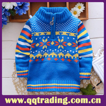 Long sleeve hot sell wholesale fashion sexy wool stripe basic comfortable children clothing