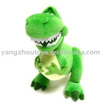 cartoon plush soft toy green dinosaur dragon with big head small hands