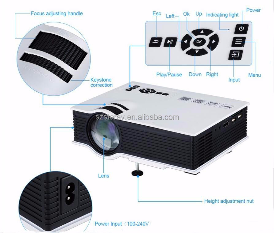 UNIC UC40+ home business projector mini 800 lumens UC40+ portable dome planetarium projector