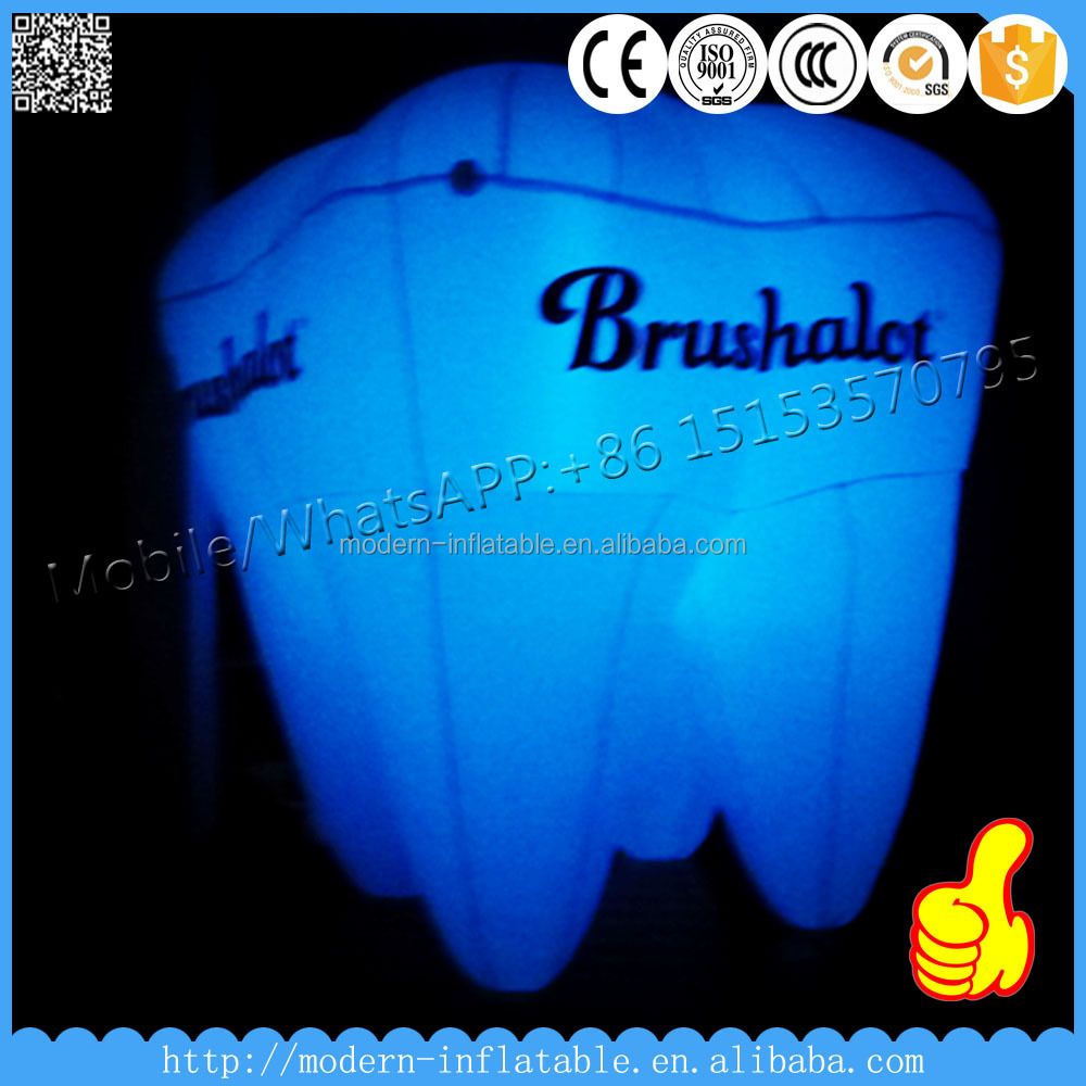 giant inflatable replica tooth model