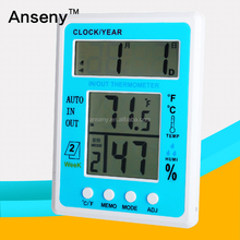 digital desktop table alarm clock weather station/elelctronic hygrometer thermometer