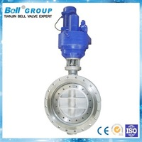 Electric 1 inch Ductile Iron Three Eccentric Butterfly Valve