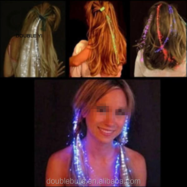 Customized Wholesale popular headwear flashing fiber braid colorful party decoration