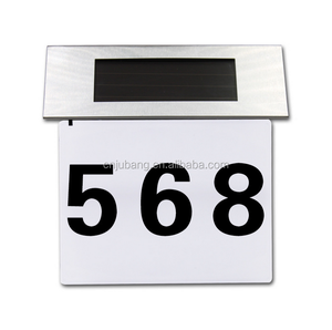 Simple Design Solar Powered LED Doorplate lights / house number Signs / solar lighted address signs