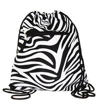 Stripe And Spot Plastic Garbage Backpack Drawstring Bags