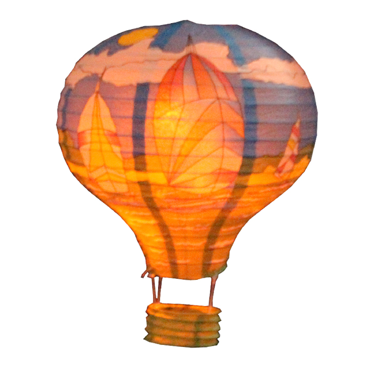 Cheap Assorted Colorful Paper <strong>Craft</strong> Hot Air Balloon Shaped Lantern JLS05-1