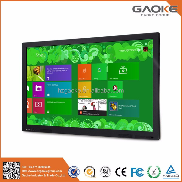 84'' desktop touch computer wall mounted 3d smart all in one pc touchscreen monitor