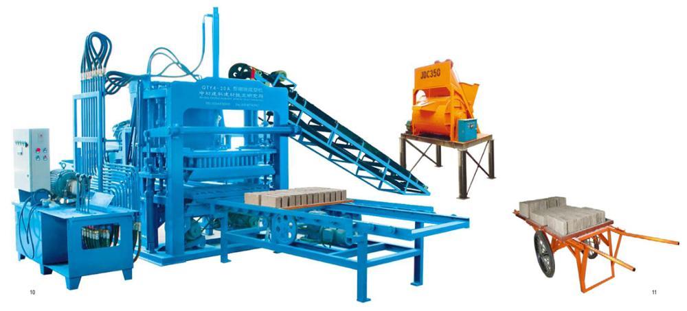 ZCJK QTY4-20A tijolo que faz a máquina Pavimentadora e bloqueio automático fabricação de tijolos de cimento máquina de fábrica
