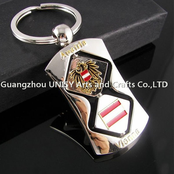 High quality promotional blank custom shaped metal key chain key holder /no minimum custom logo metal keychain