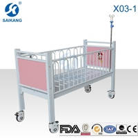 X03-1 Hospital Safety Flat Children Bed With Cartoon Picture