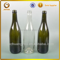 Wholesale best quality 750ml champagne colored glass bottle