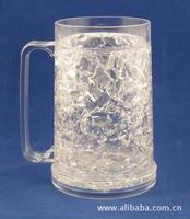 McDonald Walmart Sedex audit Manufacture Bpa Free 2014 New Frosted Mug Beer Tumbler Ice Cold Plastic Double Wall Ice Mug
