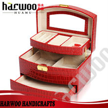 Beautiful Red Handmade Cosmetic Case for jewelry