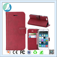 High quality 4.7 inch Slim Wallet Pu Leather Case For iphone 6