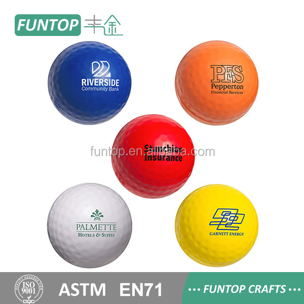 Free sample custom foam toy golf anti stress ball