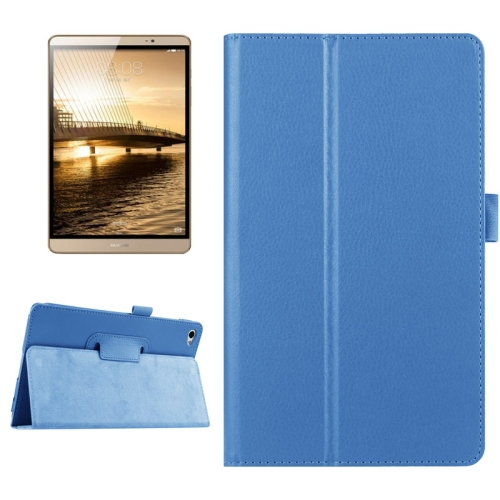 2015 New Products 2 Folding Flip Leather Cover for Huawei MediaPad M2 Case with Sleep / Wake-up Function