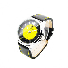 Sun face real leather for large wrist women and men unique watches design manufacture