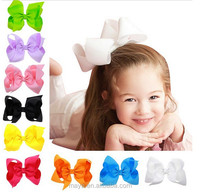 "New Fashion 6"" Large Hair Bows With Clips For Childrens Handmade Grosgrain Ribbon Hairbow Baby Hair Bow Accessories 16 Colors"