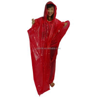 Promotional Recyclable Disposable Pantone Colored PE Rain Poncho