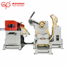 Automatic metal material feeding uncoiler machine NC straightener feeder