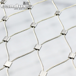 Flexible Zoo Stainless Steel Wire Rope Fence Mesh