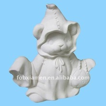 Ceramic bisque halloween teddy bear ghost figurines