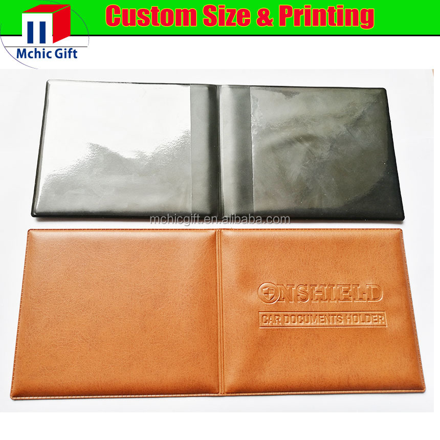 Customized cheap plastic pvc document holder wallet for car made in china