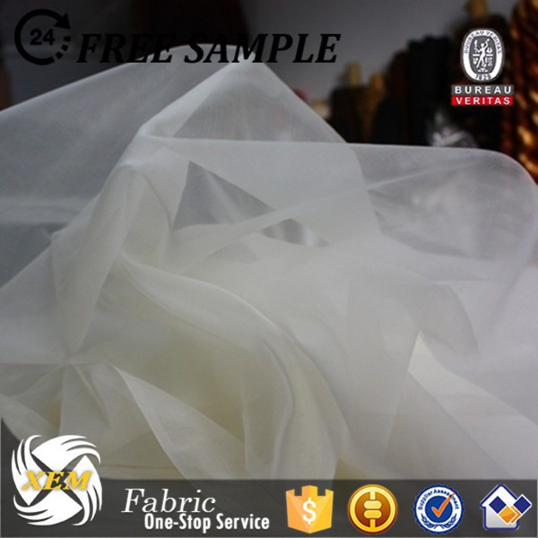 pure white silk organza for bridal dress/ wedding dress organza fabric