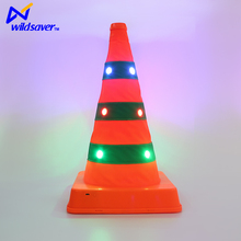 LED light flashing colored inflatable mini traffic cones
