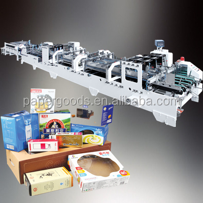 Cardboard Box Four Six Corner corrugated box folder gluer machine
