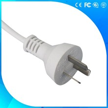 Australian certified 3pin power plug with power supply flexible cords