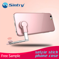 wholesale phone case selfie stick for iphone6, rubber machine making stylish guangzhou general designer printable new trend