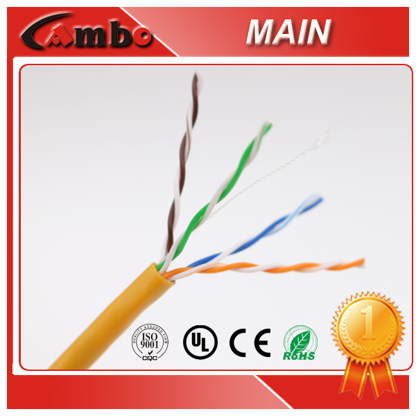 UL List ISO9001 Lan Cable 24AWG Soild Bare Copper CMR/CM Cable Ethernet Cat 5e