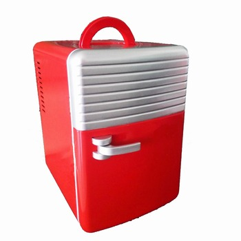 Retro desktop table peltier Mini car fridge with thermo cooler box bottle medical refrigerator and warmer 6L DC 12V