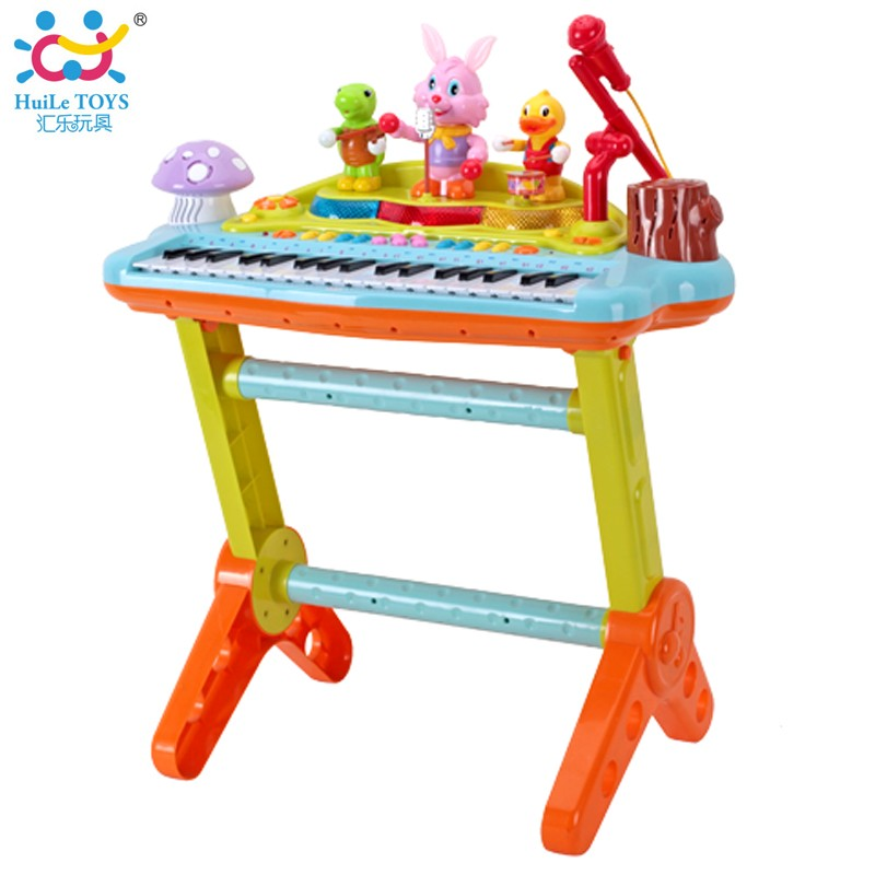 2017 Huile Kid Musical Instrument Keyboard Toys With Light
