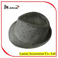2016 wholesale cream and natural straw mens' trilby hat