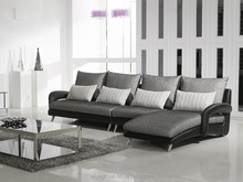 Ye-241-Arab style lounge sofas leather and fabric home living room sofa set L shape design