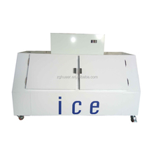 Outdoor Ice merchandiser for ice bag storage