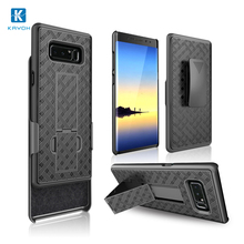 [kayoh]Shockproof combo pc phone case stand plastic cover case for Note8 with belt clip hard pc back with microfiber layer