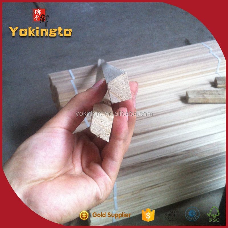 Thin wood chamfer strip decoration for home