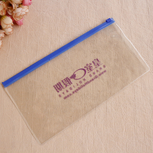 Eco printing transparent zipper cosmetic clear pvc pouch