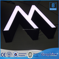 Mini Acrylic Led channel letter sign/luminance led letter board sign
