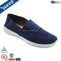 SEAVO 2017 cheap simple style elastic fabric bule walking shoes for women
