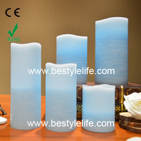 Flameless wax candle ,artificial candle decoration
