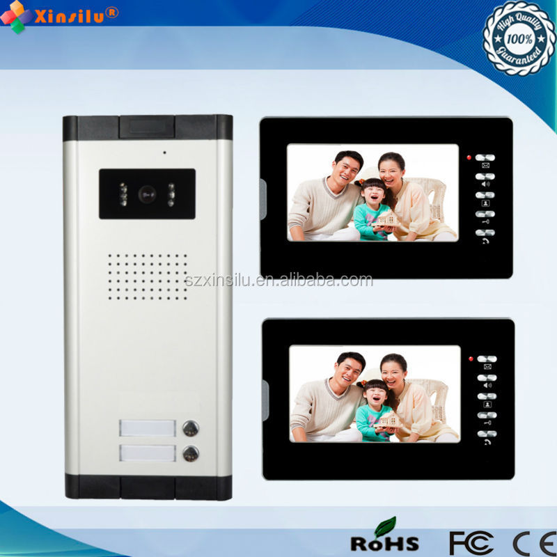 Lcd monitor video door phone intercom/video door bell for villa