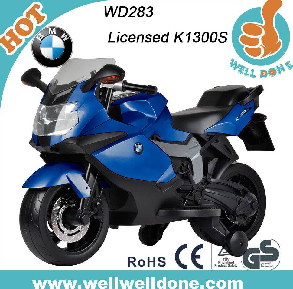 Licensed BMW motorcycle children motor car toy with music and lights WD283