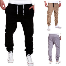 New European and American men's trousers spring and summer solid color lace elastic crotch pants open crotch pants