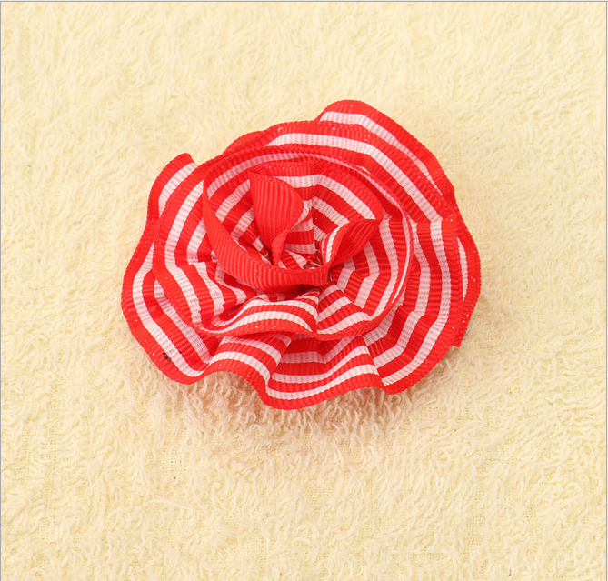 New design children's hair accessories National Day Flag ribbon printing hair clips for baby girl.